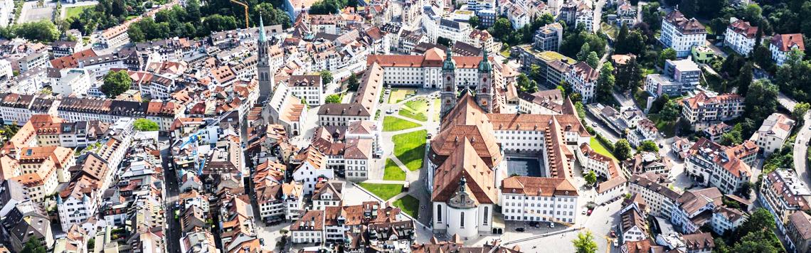 Die universelle Freimaurer Liga in der Stadt St. Gallen